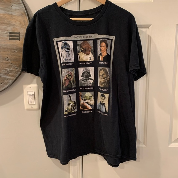 Star Wars Most Likely To T-Shirt sz XL EUC